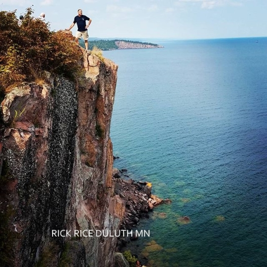 Rick Rice standing on Palisade Head Image by Rick Rice Duluth MN