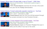 Mr Zacharia's 3 You Tube videos on what Trump has done in his first year.