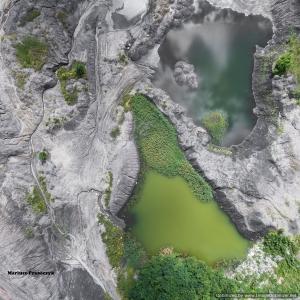 Bird's eye view of the waste from a coal mine by Mariuz Prusaczyk Unsplash! CCL