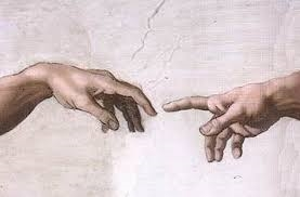 God giving Adam power thru touch. Google Images CCL