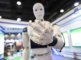 A robot is gesturing you to 'Come here' and escort you into the Fourth Industrial Revolution are you ready. Google Images CCL
