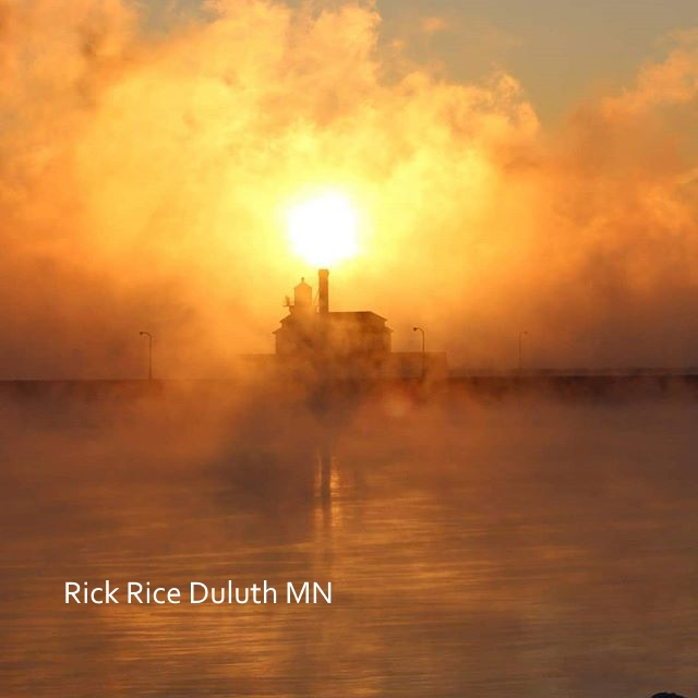 Sea Smoke playing with the Steam Generating Plant in Downtown Duluth December 2017. Image by Rick Rice