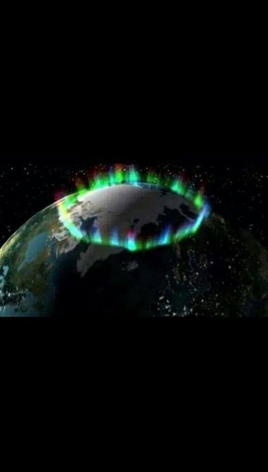 The Aurora Borealis as seen from space. NASA