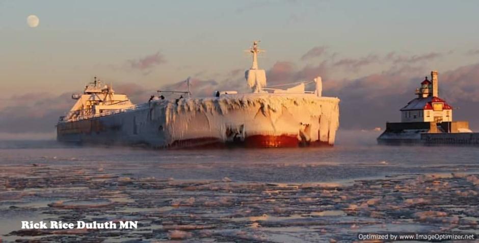Great Lake Fleet laker Prescue Isle Image by Rick Rice Duluth MN