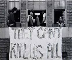 A theme of protesters after Kent State