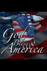 God Bless America with Flag and Eagle Google Images
