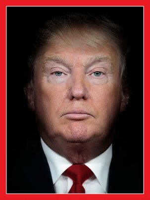 Trump and Putin Morphed into a single image. Time Magazine Cover 7/21/18