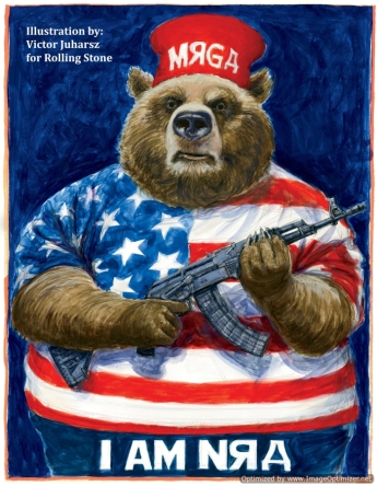 The Russia Bear illustrated by Victor Juharsz for Rolling Stone