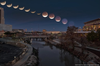 Phases of the Super Blue Blood Moon Image by Sergio Garcia Rill