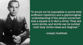 GOEBBELS A SQUARE IS A CIRCCLE