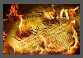 WE THE PEOPLE DECLARATION OF INDEPENDENCE UP IN FLAMES