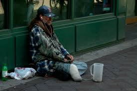 Image of homeless and disabled American Veteran DAV e zine
