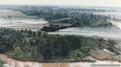 helicopter spraying agent orange healthline