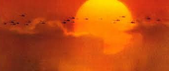 FORMATION OF GUNSHIPS IN THE MORNING SUN ON THE WAY TO surfs up!!