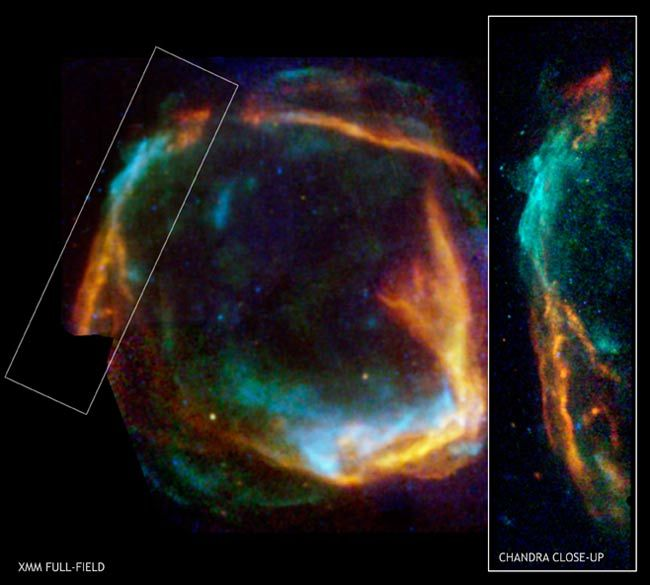 Chandra. This supernova was first observed 2,000 years ago