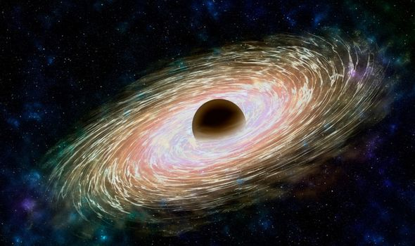 A Black Hole. Everything is being sucked into its mass. Image: Getty Images