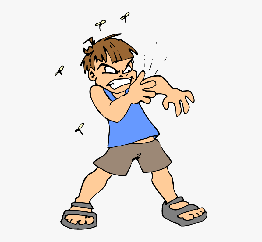 image of a human swatting at mosquitoes to save his life google images
